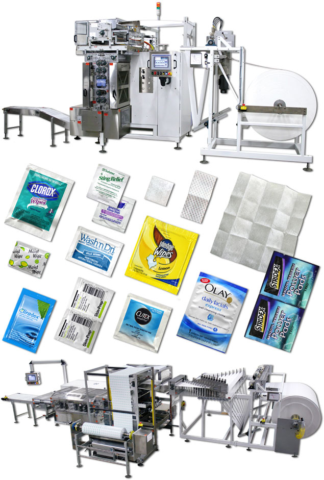 towelette packaging machine